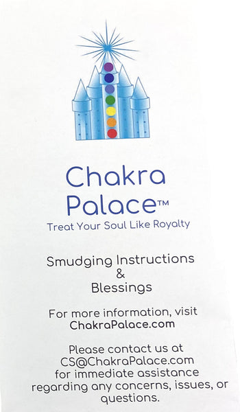 "Chakra Healing Crystal Kit: Begin your spiritual & healing journey with everything you need -7 Chakra Crystals, 4"" California Sage, Shell, + Instructions - premium grade sage"