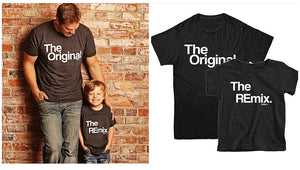 T-shirt the original / the remix - Père et enfant assortis - 1/4ans - M/XXL