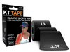 KT TAPE Cotton Kinesiology Tape For Common Sports Injuries - Precut, Black.