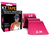 KT Tape Cotton Pink Elastic Therapeutic Sports Tape for Common Sports Injuries - Precut