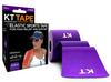 KT Tape Cotton Purple Elastic Therapeutic Sports Tape for Common Sports Injuries - Precut