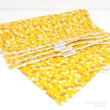 Mustard Ditsy Floral Washable Washable Kitchen Roll The Clever Cactus eco-friendly sustainable fabric