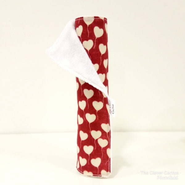 Red and White Heart Balloons Washable Kitchen Roll