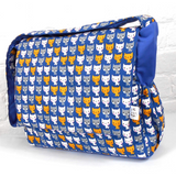 Navy and Blue Kitty Cat Baby Changing Nappy Diaper Bag with Accessories