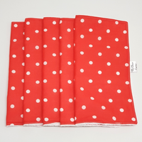 Red and White Polka Dot Washable Kitchen Roll The Clever Cactus fabric eco-friendly sustainable