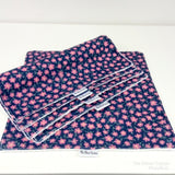 Navy Ditsy Floral Washable Kitchen Roll