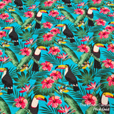 Rolled Changing Mat toucan rainforest print fabric The Clever Cactus sustainable eco-friendly