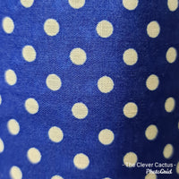 Rolled Changing Mat blue polka dot print fabric The Clever Cactus sustainable eco-friendly