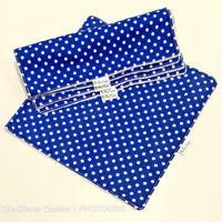 Blue Polka Dot Washable Kitchen Roll