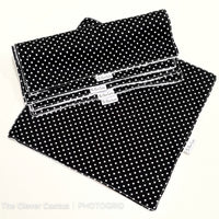 Black Polka Dot Washable Kitchen Roll