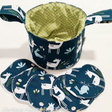 Sleepy Doe Peacock Small Teeny Tub Storage With Face Wipes