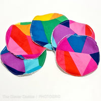 Geometric Rainbow  Small Teeny Tub Storage With Face Wipes