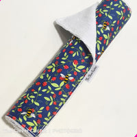 Navy Strawberry Bees Washable Kitchen RollThe Clever Cactus eco-friendly sustainable fabric
