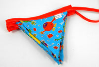 Blue Cute Monster 10 Flag Bunting