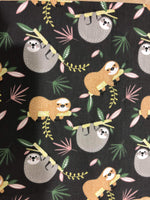 Petite Extra Protection/Night Pad eco friendly sustainable fabric sloth print The Clever Cactus