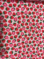 Petite Extra Protection/Night Pad eco friendly sustainable fabric strawberry print The Clever Cactus