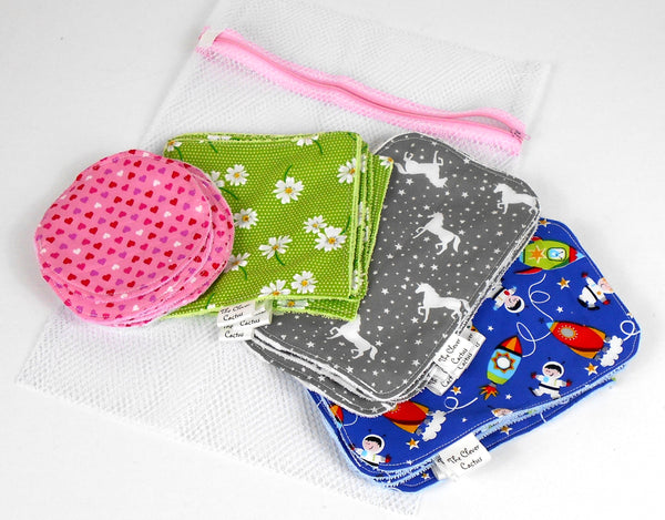 Family Fabric Wipes Starter Kit The Clever Cactus sustainable eco friendly