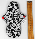 Petite Extra Protection/Night Pad eco friendly sustainable panda print fabric The Clever Cactus