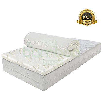 COOLING MEMORY FOAM BAMBOO MATTRESS TOPPER