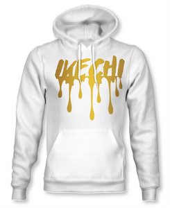 White and Gold Drip Hoodie