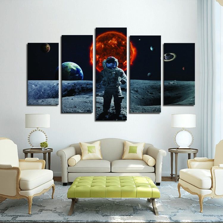 Outer Space Wall Art - Man On The Moon Canvas | Canvas Boss | Canvas ...