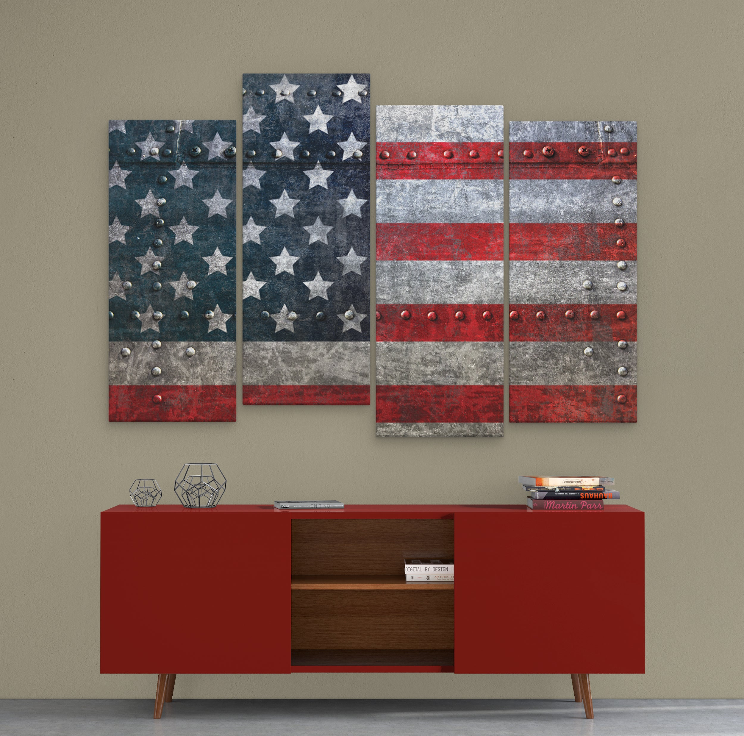 american wall art bolted metal american flag canvas canvas boss