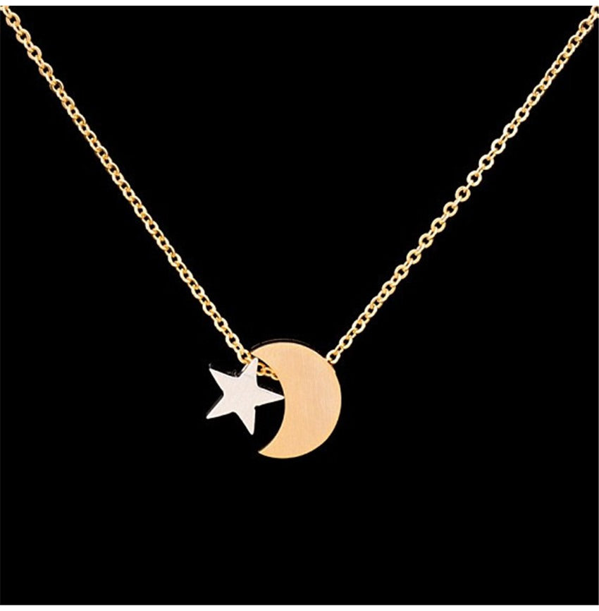 Crescent moon star pendant necklace set jewel trunk crescent moon star pendant necklace set aloadofball Image collections