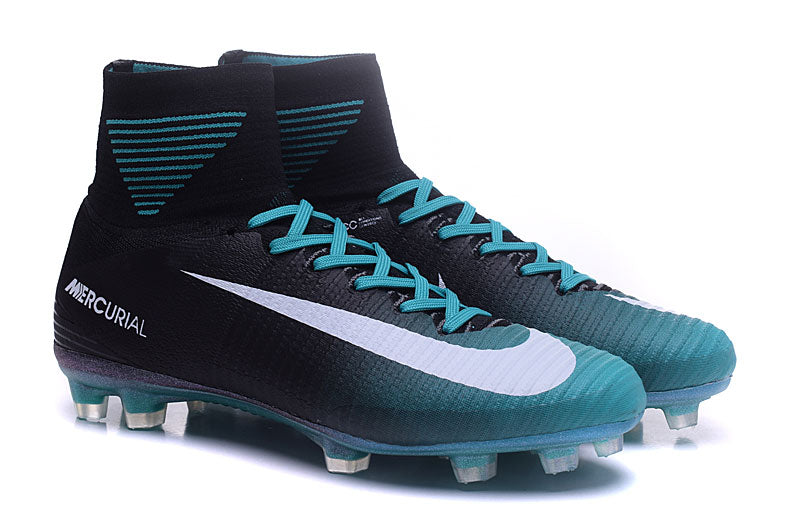... Nike Mercurial Superfly V FG Soccer Cleats Blue Black White