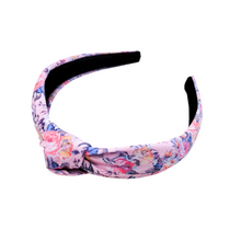Knotted Headband - Pink Floral Essence