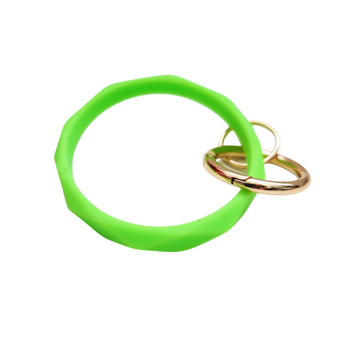 Silicone Key Chain - Lime