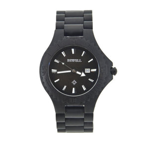 Bewell Men Ebony Wood Watch Bamboo Watch