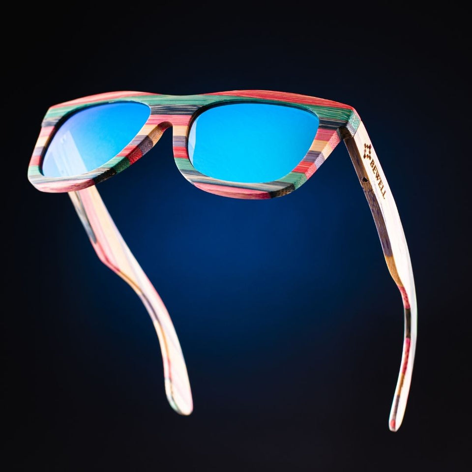 Bright Colour Polarized Bamboo Sunglasses