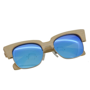 Light UV400 Sunglasses Bamboo Wood Maple Retro Bewell