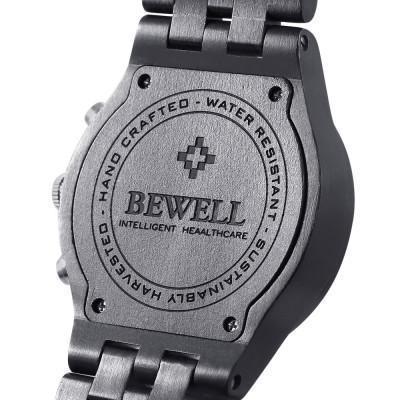 Bewell Chronograph Bamboo Ebony Wood Watch