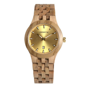 Bedate Gold Maple Wood Watch Bewell Bamboo Watch Woman
