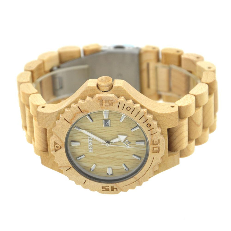 Bewell Men Maple Wood Watch Bamboo Watch