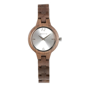Bedate Bewell Walnut Bamboo Wood Watch Brown Ladies Women Watch