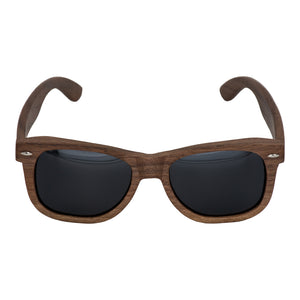Black Walnut Frame and Black Polarized Lens Wood Sunglasses