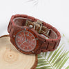 Bewell Luxary Red Sandalwood Watch
