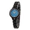 Bewell Women's Classic Ebony Wood Watch - Mother of Pearl Dial