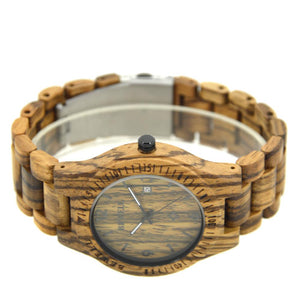 Bewell Classic Retro Bamboo Zebra Wood Watch Bamboo watch