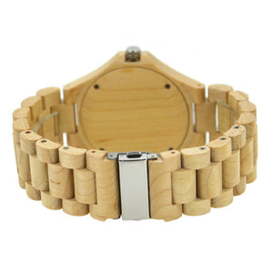 Bewell Chronograph Bamboo Maple Wood Watch