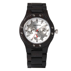 Bedate Ebony Wood Watch Bewell Bamboo Watch men Chronograph