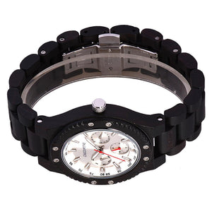 Bedate Ebony Wood Watch Bewell Bamboo Watch