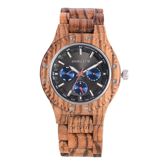Bedate Red Zebra Wood Watch Bewell Bamboo Watch