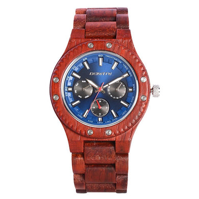 Bedate Red Sandalwood Wood Watch Bewell Bamboo Watch