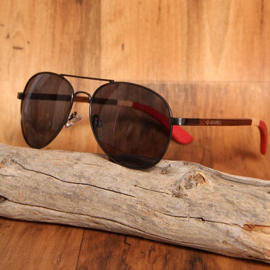 Aviator Bamboo Sunglasses Wood Sunglasses Walnut Wood Polarized UV400