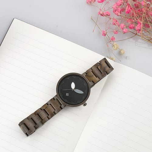 Bewell Ladies Classic Black Sandalwood Watch