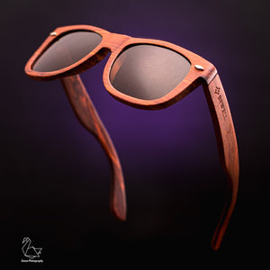 Red Sandalwood Frame and Brown Polarized Lens Wood Sunglasses