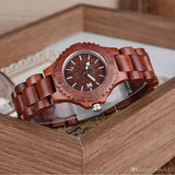 Bewell Ladies Bamboo Red Sandalwood Watch